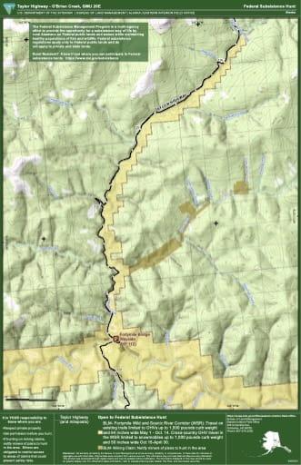 map of GMU 20E - Taylor Hwy - O'Brien Creek