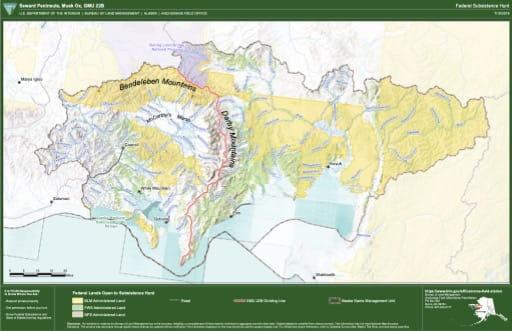 map of GMU 22B - Seward Peninsula, Musk Ox