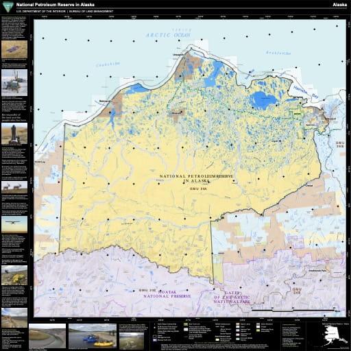 map of National Petroleum Reserve-Alaska - Visitor Map
