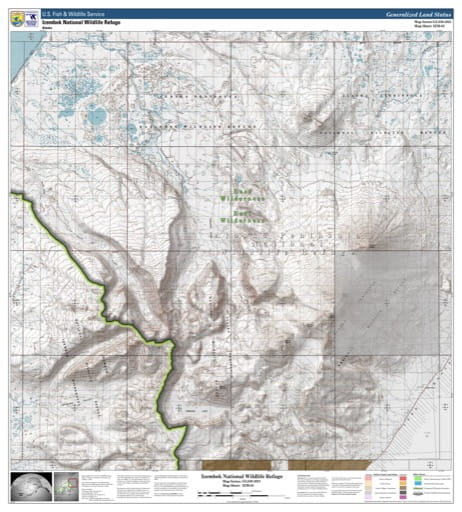 Map sheet IZM-02 for the Izembek National Wildlife Refuge (NWR) in Alaska. Published by U.S. Fish and Wildlife Service (USFWS).