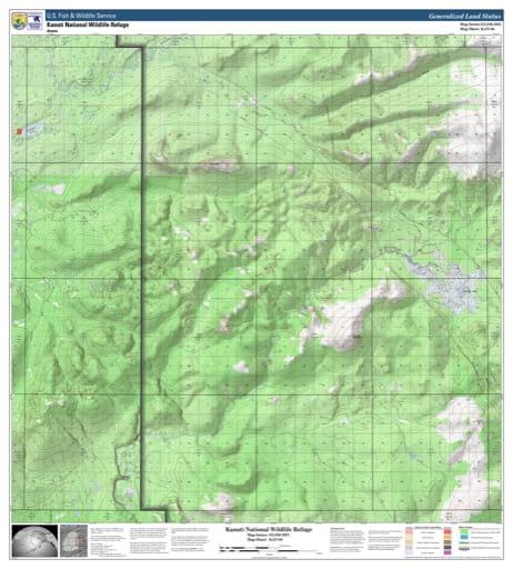 map of Kanuti NWR - KAN-6