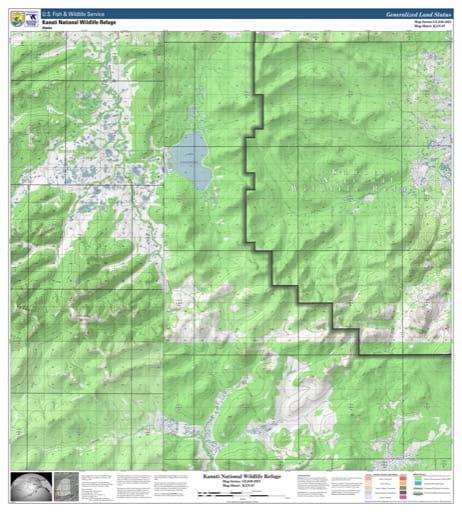map of Kanuti NWR - KAN-07