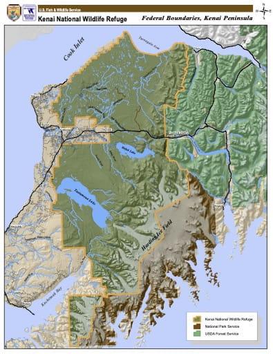 map of Kenai NWR - Boundary Map
