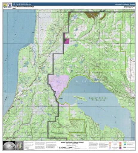 Map sheet KAN-07 for the Kenai National Wildlife Refuge (NWR) in Alaska. Published by U.S. Fish and Wildlife Service (USFWS).