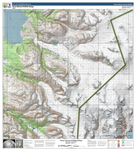 Map sheet KAN-11 for the Kenai National Wildlife Refuge (NWR) in Alaska. Published by U.S. Fish and Wildlife Service (USFWS).
