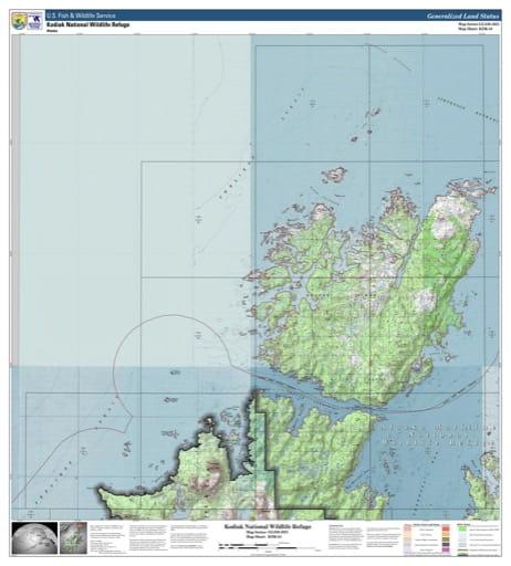 map of Kodiak NWR - KDK-01