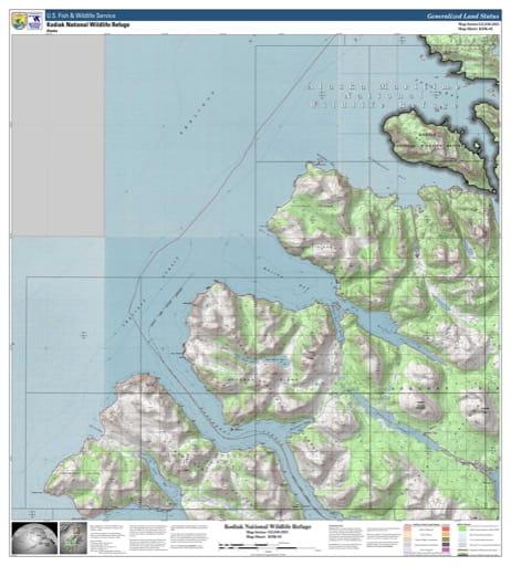 map of Kodiak NWR - KDK-02
