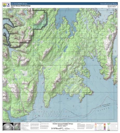 map of Kodiak NWR - KDK-03