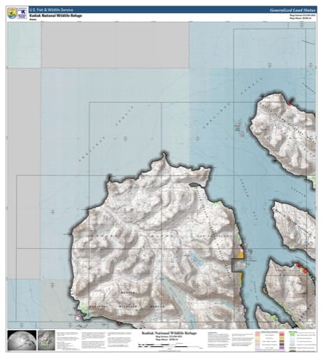 map of Kodiak NWR - KDK-04