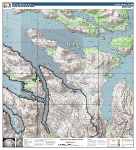 map of Kodiak NWR - KDK-05