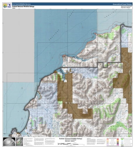 map of Kodiak NWR - KDK-06
