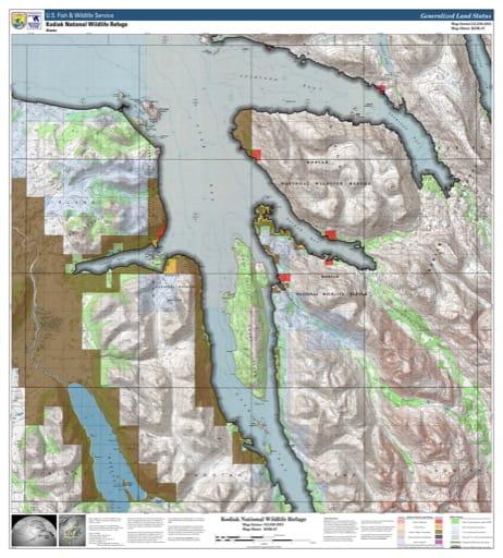 map of Kodiak NWR - KDK-07