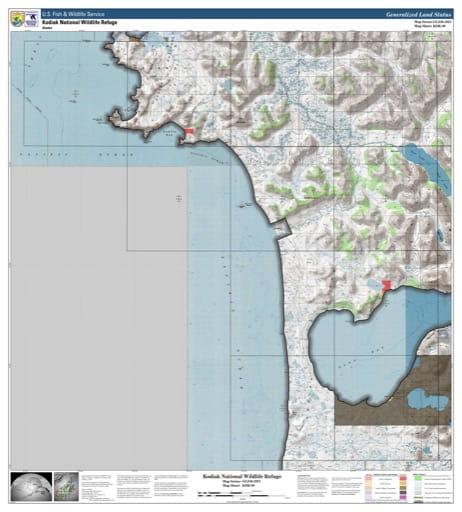 map of Kodiak NWR - KDK-09