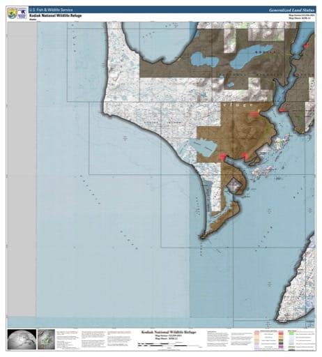 map of Kodiak NWR - KDK-13