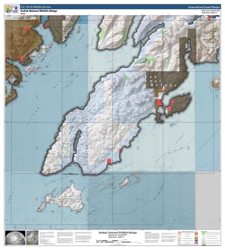 map of Kodiak NWR - KDK-14