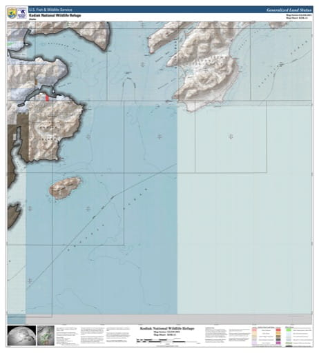 map of Kodiak NWR - KDK-15
