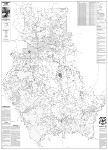 Motor Vehicle Use Map (MVUM) for Winter travel in Coconino National Forest (NF). Published by the U.S. Forest Service (USFS).