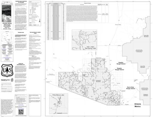 map of Coronado MVUM - Nogales 2019