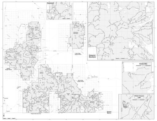 map of Coronado MVUM - Sierra Vista 2019