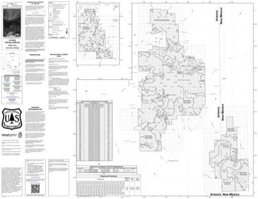 Motor Vehicle Use Map (MVUM) of Douglas Ranger District in Coronado National Forest (NF). Published by the U.S. Forest Service (USFS).