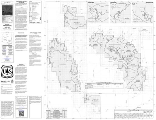 Motor Vehicle Use Map (MVUM) of Safford Ranger District in Coronado National Forest (NF). Published by the U.S. Forest Service (USFS).
