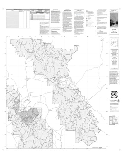 Motor Vehicle Use Map (MVUM) of the Eastern area of Prescott National Forest (NF). Published by the U.S. Forest Service (USFS).