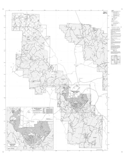 Motor Vehicle Use Map (MVUM) of the Western area of Prescott National Forest (NF). Published by the U.S. Forest Service (USFS).