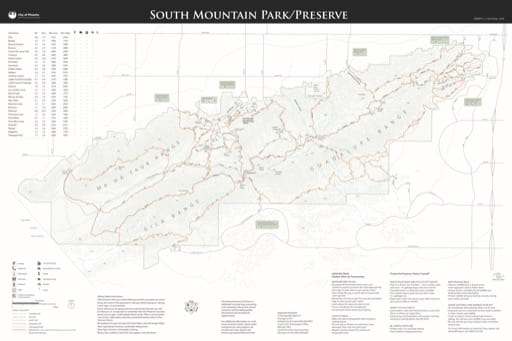map of Phoenix - South Mountain Park/Preserve