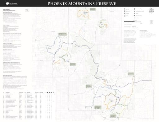 map of Phoenix - Phoenix Mountains Preserve