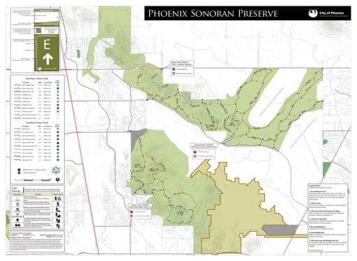 map of Phoenix - Phoenix Sonoran Preserve