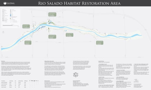 map of Phoenix - Rio Salado Habitat Restoration Area