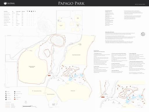 map of Phoenix - Papago Park