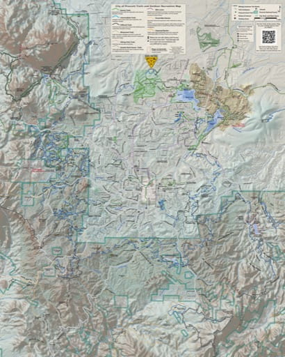 City of Prescott Trails and Outdoor Recreation Map. Published by the City of Prescott.