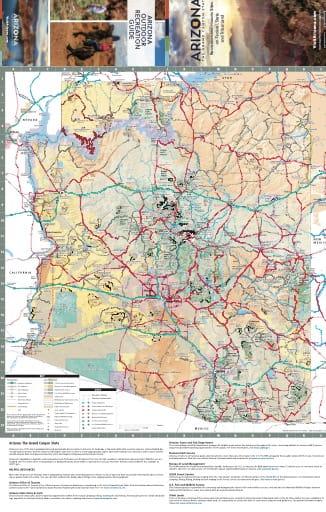 map of Arizona State - Arizona Tourism Map