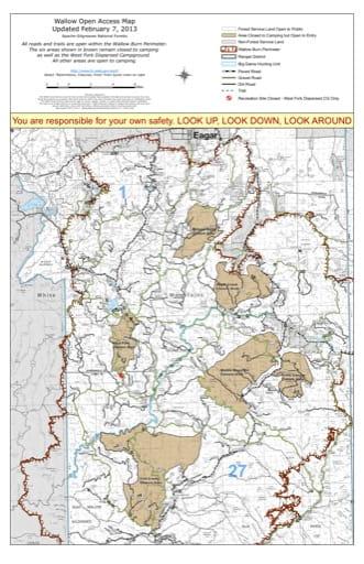 map of Apache - Wallow Open Access Map
