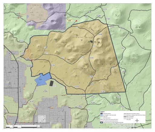 map of Coconino NF - Cinder Hills OHV