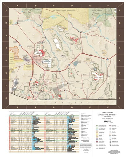 map of Coronado - Pocket Guide 2018