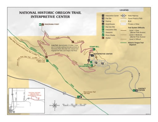 map of Oregon Trail - Visitor Map