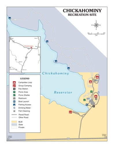 map of Chickahominy - Recreation Map