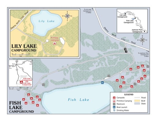 map of Fish Lake - Campground Map