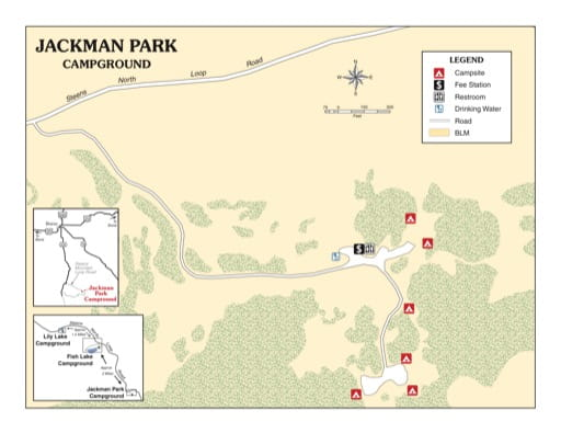 map of Jackman Park - Campground Map