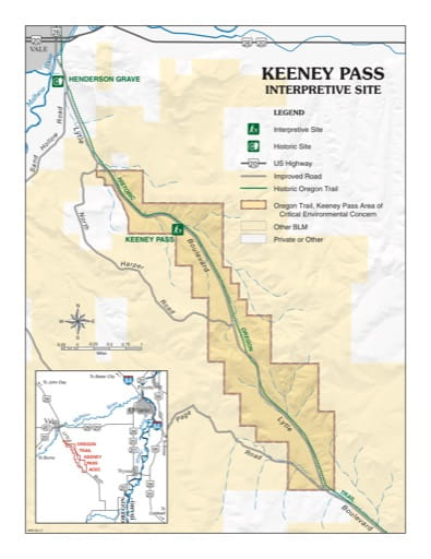 map of Keeney Pass - Visitor Map