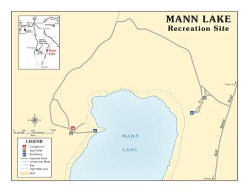 map of Mann Lake - Recreation Map