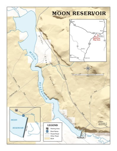 map of Moon Reservoir - Visitor Map