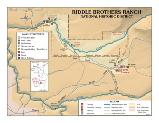 map of Riddle Brothers Ranch - Recreation Map