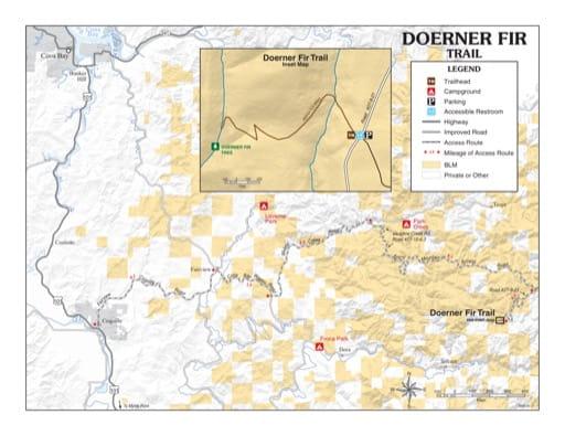 map of Doerner Fir - Trail Map