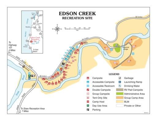 map of Edson Creek - Recreation Map