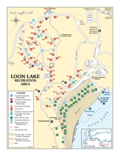 map of Loon Lake - Recreation Map