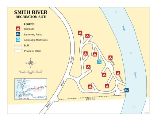 map of Smith River - Recreation Map