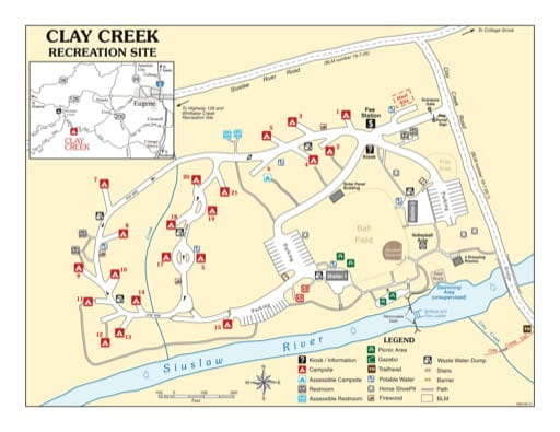 map of Clay Creek - Recreation Map